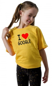 Camiseta I Love Google