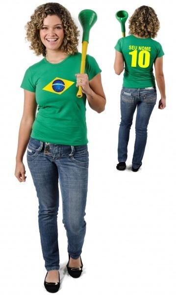 CAMISETA DO BRASIL PERSONALIZADA COM NOME Código do produto  Camiseta do  Brasil Personalizada 546416de53379