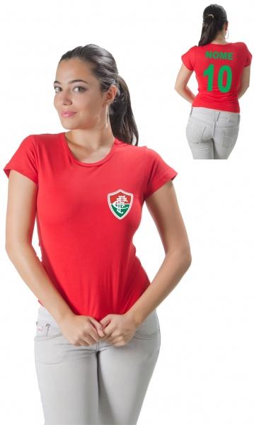 CAMISETA FLUMINENSE PERSONALIZADA COM NOME E NÚMERO Código do produto   Camiseta Personalizada do Fluminense Com Nome e Número 5b94d7a69db22