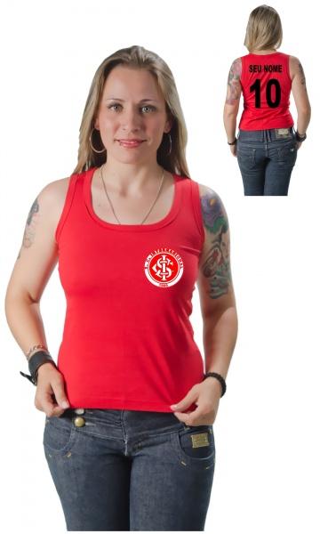 CAMISETA INTERNACIONAL PERSONALIZADA COM SEU NOME E NÚMERO Código do  produto  Camiseta Personalizada do Internacional Com Seu Nome e Número 46a22f4589c4a