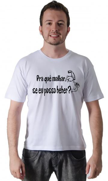 4368c214e3 CAMISETA PRA QUE MALHAR Código do produto  Camiseta Pra que malhar