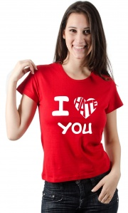 Camiseta I Love Hate You