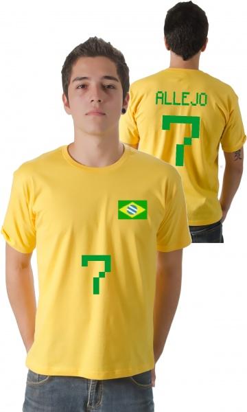 Camiseta Allejo Brasil 7 - Estilo Fun Camisetas Personalizadas ... 78cff27859961