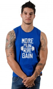 Camiseta Academia - More Pain More Gain
