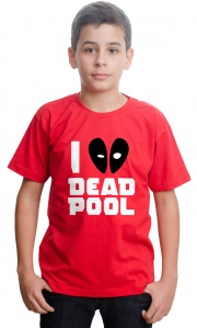 Camiseta Super Heróis - I love Deadpool