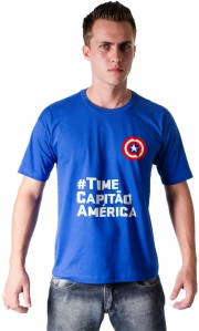 Camiseta Guerra Civil - Time Capitão América