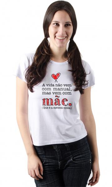 918ae80723 Camiseta - Manual Mãe - Estilo Fun Camisetas Personalizadas ...