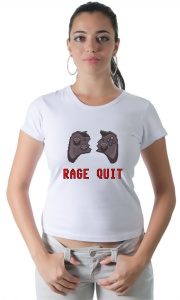 Camiseta Game - Rage Quit