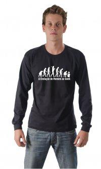 Camiseta A Evolução do Homem ao Geek