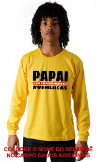 Camiseta Papai em treinamento Personalizável
