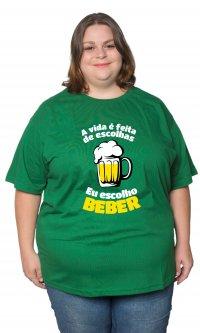 Camiseta Escolho beber