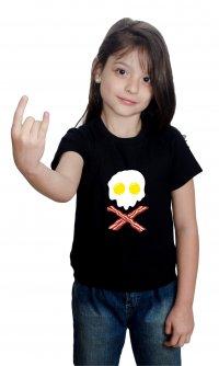 Camiseta Caveira, ovos e bacon