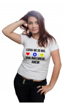 Camiseta Livrai-me do mal