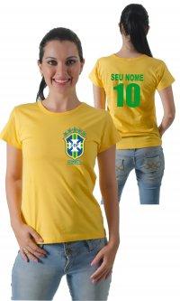 Camiseta Brasil (Com Seu Nome e Numero)
