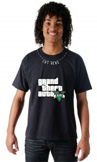 Camiseta Cut Here - GTA V