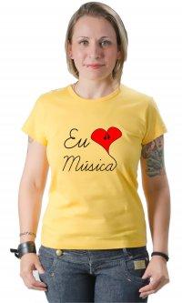 Camiseta Eu amo música