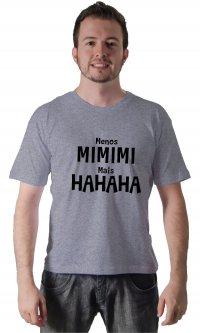 Camiseta Menos e mais