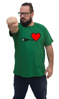 Camiseta Namorado nerd USB