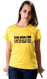 Camiseta Solteira sim