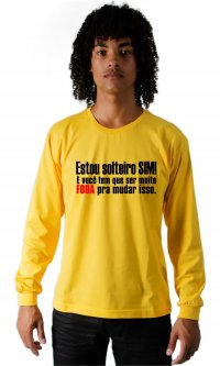 Camiseta Solteiro sim