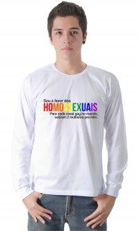 Camiseta Sou a favor dos homossexuais