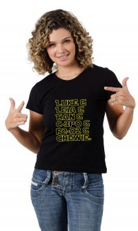 Camiseta Star Wars Personagens