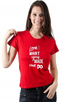 Camiseta Made me do - Taylor Swift