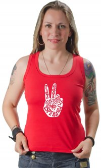 Camiseta Paz e amor adjetivos