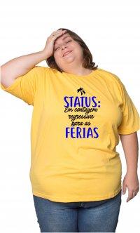 Camiseta Status Férias