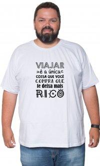 Camiseta Viajar Rico