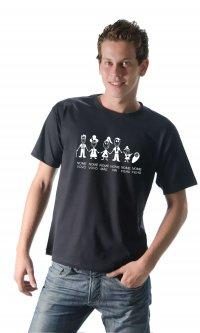 Camiseta Família feliz com nome