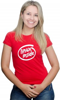 Camiseta Linux inside