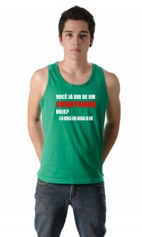 Camiseta Nunca Vou Deixar de Rir