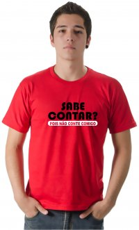 Camiseta Sabe Contar