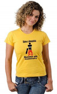 Camiseta Salve a Amazônia