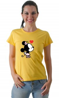 Camiseta Minnie Beijo