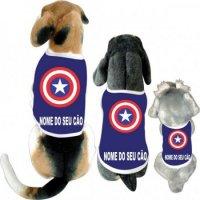 Cãomiseta - Capitão América Escudo