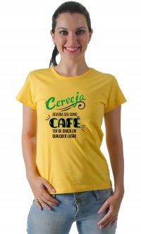 Camiseta Cerveja e café