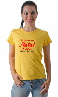 Camiseta Quero de natal