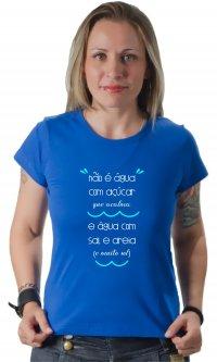 Camiseta Água com sal e areia