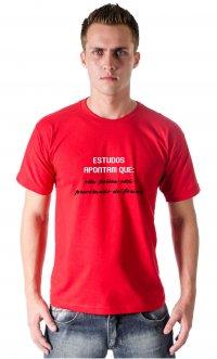 Camiseta Estudos apontam