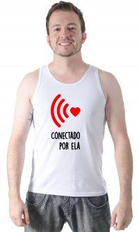 Camiseta Conectado por ela