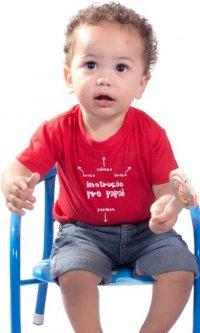 Camiseta Infantil Instrução pro Papai