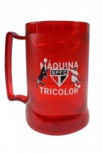 Caneca Gel Peça Vermelha 400ml Maquina Tricolor do São Paulo