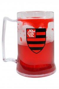 Caneca Gel Vermelho 400ml Escudo do Flamengo
