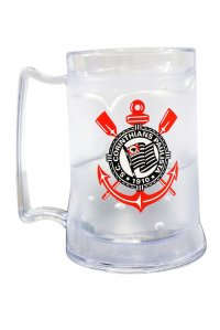 Caneca Gel Incolor 400ml Escudo do Corinthians