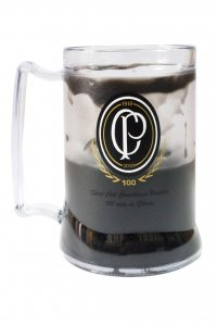 Caneca Gel Preto 400ml Centenário do Corinthians