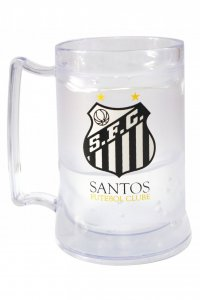 Caneca Gel Incolor 400ml Escudo do Santos