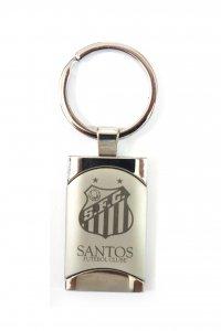 Chaveiro Retangular Escudo do Santos