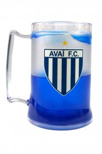 Caneca Gel Azul 400ml Escudo do Avaí